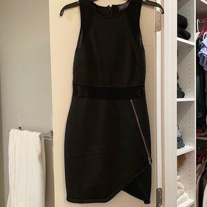Astr the label black mini bodycon dress XS